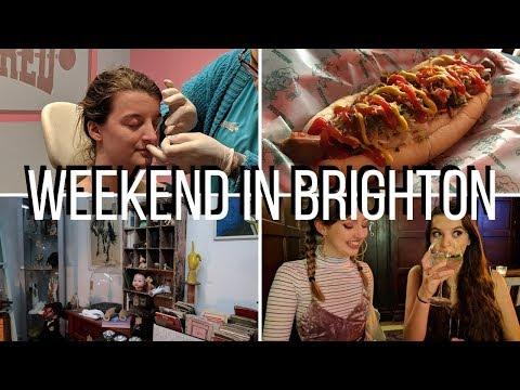 GETTING MY NOSE PIERCED IN BRIGHTON // Weekend vlog