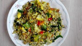 ভাত ভাজি - ভেজিটেবল ফ্রাইড রাইস, Simple Vegetable Fried Rice - Vat Vaji Rannar Video - Bangla Ranna