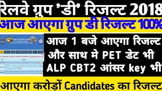 Railway Group D Results 2018And Alp Tech CBT 2 Official Answerkey Official update Railway Group D