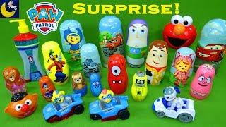 Lots of Surprise Toys Paw Patrol Twins Bubble Guppies Disney Cars 3 Yo Gabba Gabba Slime Bath Toys