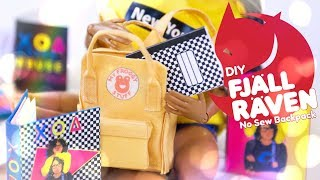 DIY - How to Make: Fjallraven Kanken No Sew Backpack & Back to School Supplies