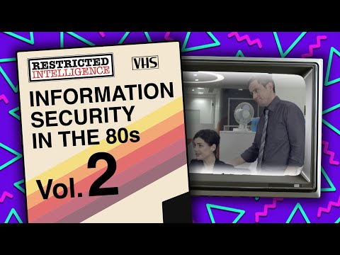 Information Security Awareness In The 80s - Restricted Intelligence - 80's Viral 2