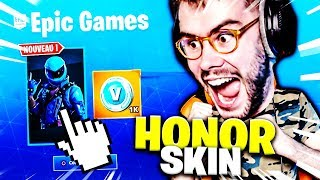 I'm ABLE to WORK THE SKIN INEDIT HONOR ON FORTNITE!!