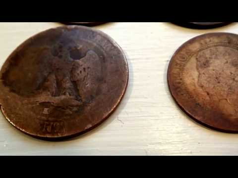 Four Old 1800's Napoleon Coins