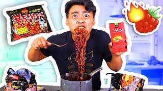Video SPICY RAMEN + MIRACLE BERRY EXPERIMENT! download MP3, 3GP, MP4, WEBM, AVI, FLV Juli 2018