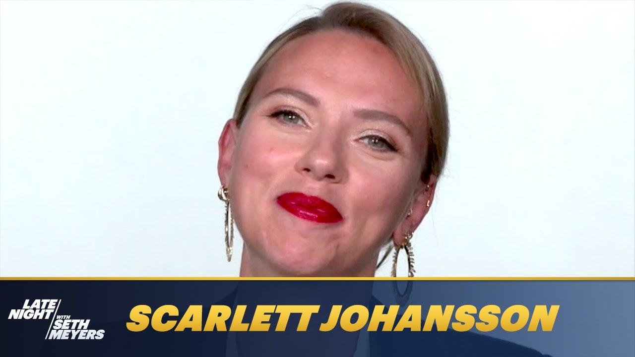 Scarlett Johansson Describes Her Very Pandemic Wedding with Colin Jost