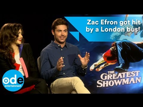 Zac Efron got hit by a London bus!