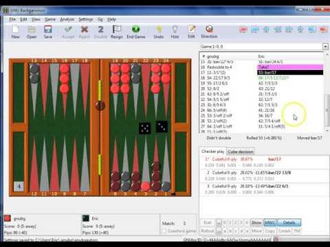 GNU Backgammon Part 2 - Analyze Match, View Errors