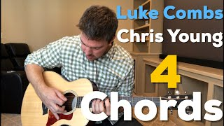 Luke Combs / Chris Young Mashup Guitar | 1-Minute Lesson | 4 Chords