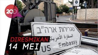 Plang Penunjuk Arah Kedubes AS Telah Terpasang Di Yerusalem