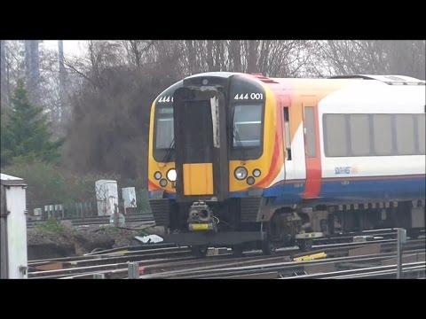 Trains at Clapham Junction - 12/03/17