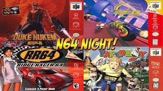 N64 Night! Duke Nukem, Extreme G, Ridge Racer, & Paperboy - YoVideogames