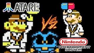 Dr. Mario - Atari 8 Bit vs. Nintendo NES Port Comparison