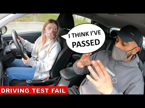 Learner Driver Thinks She Has Passed After Just 3 Driving Lessons | DRIVING TEST FAIL
