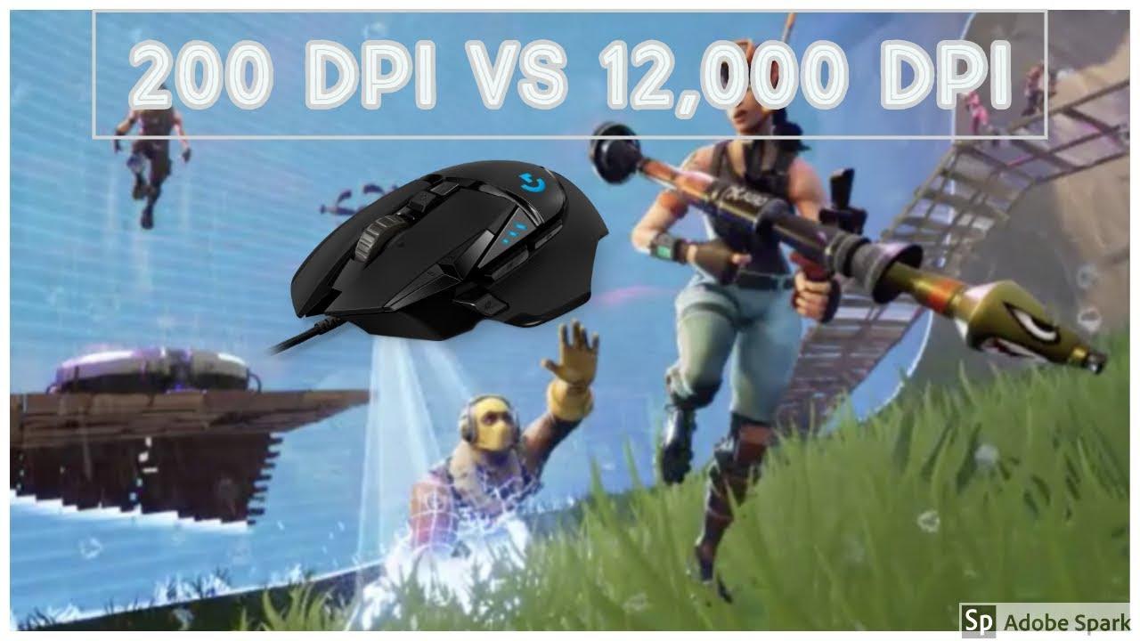 Does Dpi Matter In Fortnite Fortnite 200 Dpi Vs 12 000 Dpi Youtube