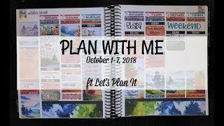 Plan With Me - October 1-7 2018 | ft Let