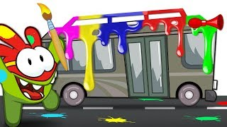 Paint the Bus with Super-Noms | Educational Kids Cartoons | Om Nom