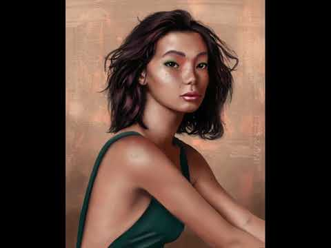 How to Paint Portrait study in Photoshop tutorial step by step Asian Girl thumbnail