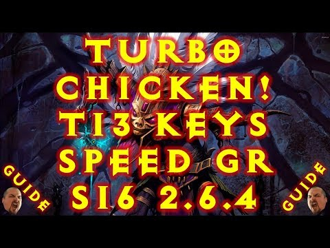 Diablo 3 S16 Turbo Chicken Witch Doctor Build! T13 & Bountys! 2.6.4