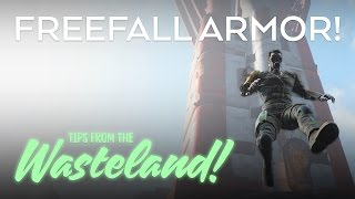 FREEFALL ARMOR! Fallout 4: Tips from the Wasteland! Gameplay Walkthrough