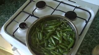 Вареный зеленый горошек