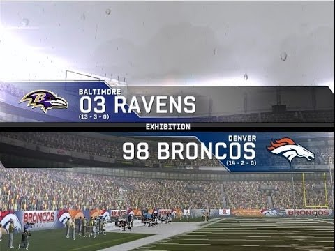 2003 Baltimore Ravens vs. 1998 Denver Broncos