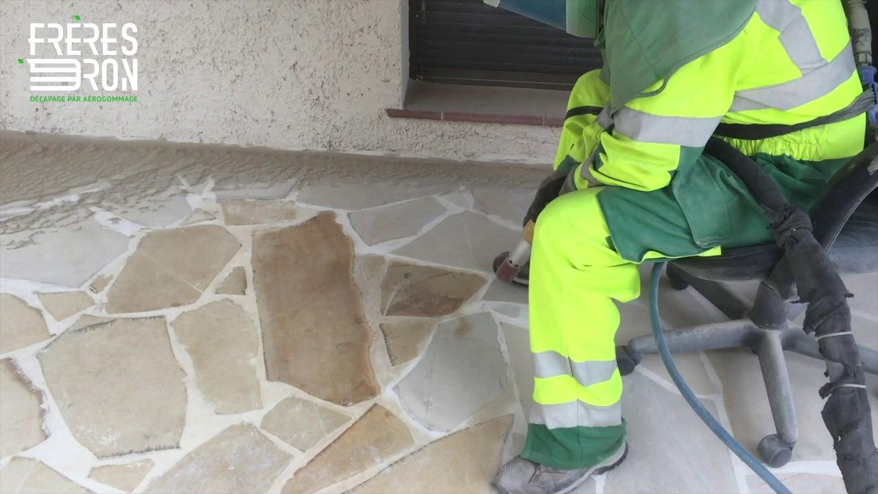 Comment Nettoyer La Terrasse En Pierre nettoyage par aérogommage de terrasse en pierre de baviere, entreprise  frères dron, alpes-maritimes
