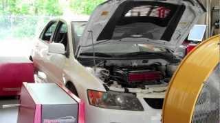 evo 9 gsr built engine forced performance turbo 432whp 352tq ecuflash dyno video