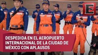 México despide a rescatistas japoneses al concluir sus labores de rescate