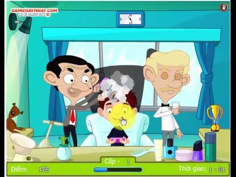 Mr Bean trổ tài cắt tóc - Game Vui Nhộn - Gamehaynhat.com