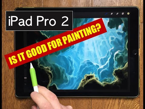 IPAD PRO 2 PAINTING TEST - Underwater scene tutorial with Apple Pencil