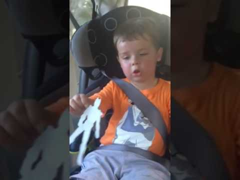 Cael in the Car seat
