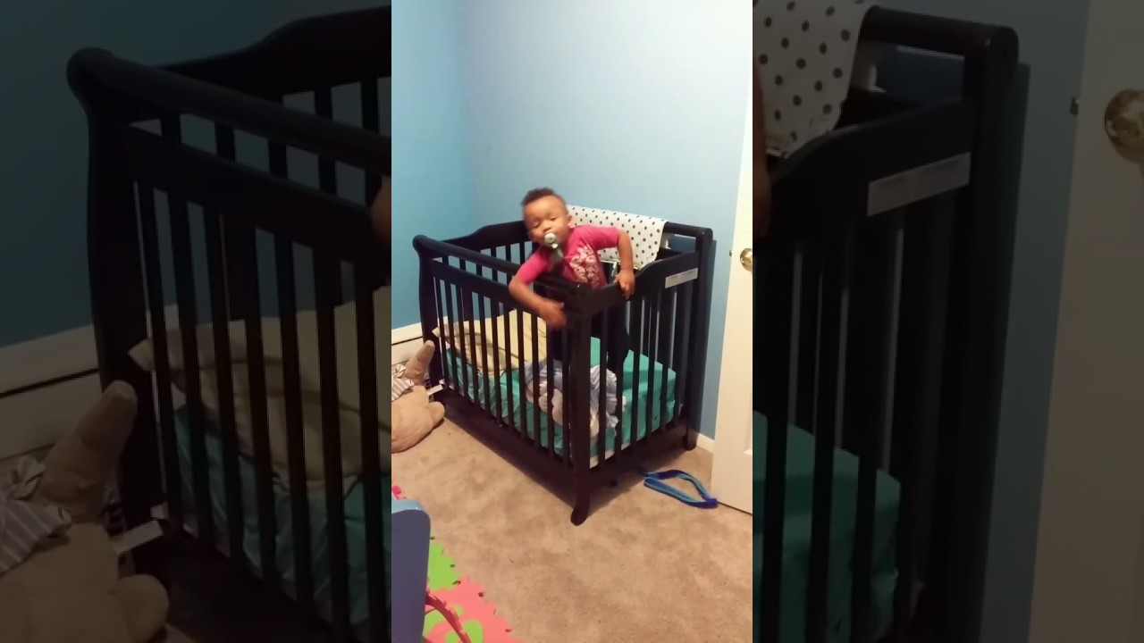 Baby Jumps Over Crib Youtube