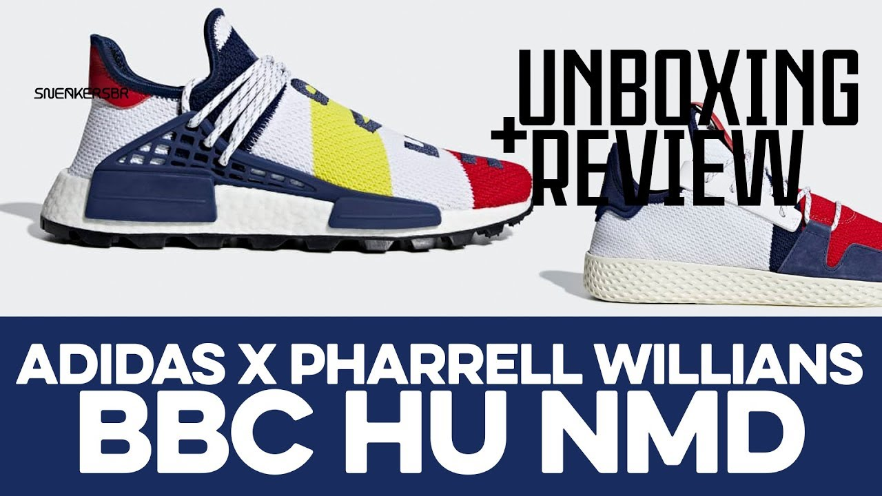 3e418fe931e7d UNBOXING+REVIEW - adidas X Pharrell Williams BBC Hu NMD - YouTube