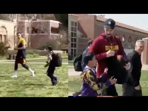 Larry Nance Jr Completely IGNORES Kid, but Kevin Love Saves The Day!