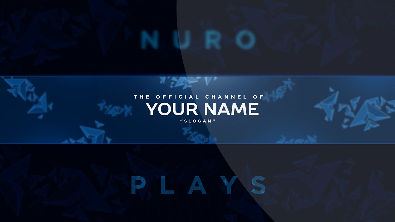 Free Youtube Banner Template PSD Fully Editable - YouTube