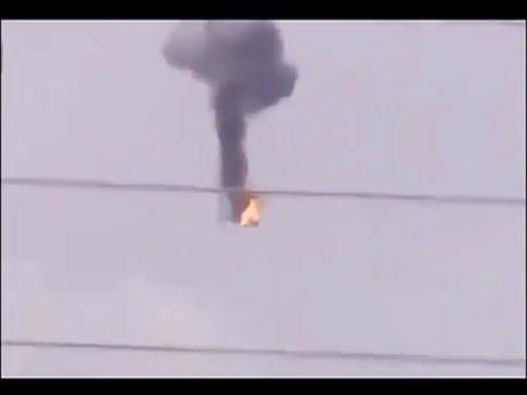 Ukraine War - Russian armed forces shot down Ukrainian helicopter in Sloviansk Ukraine