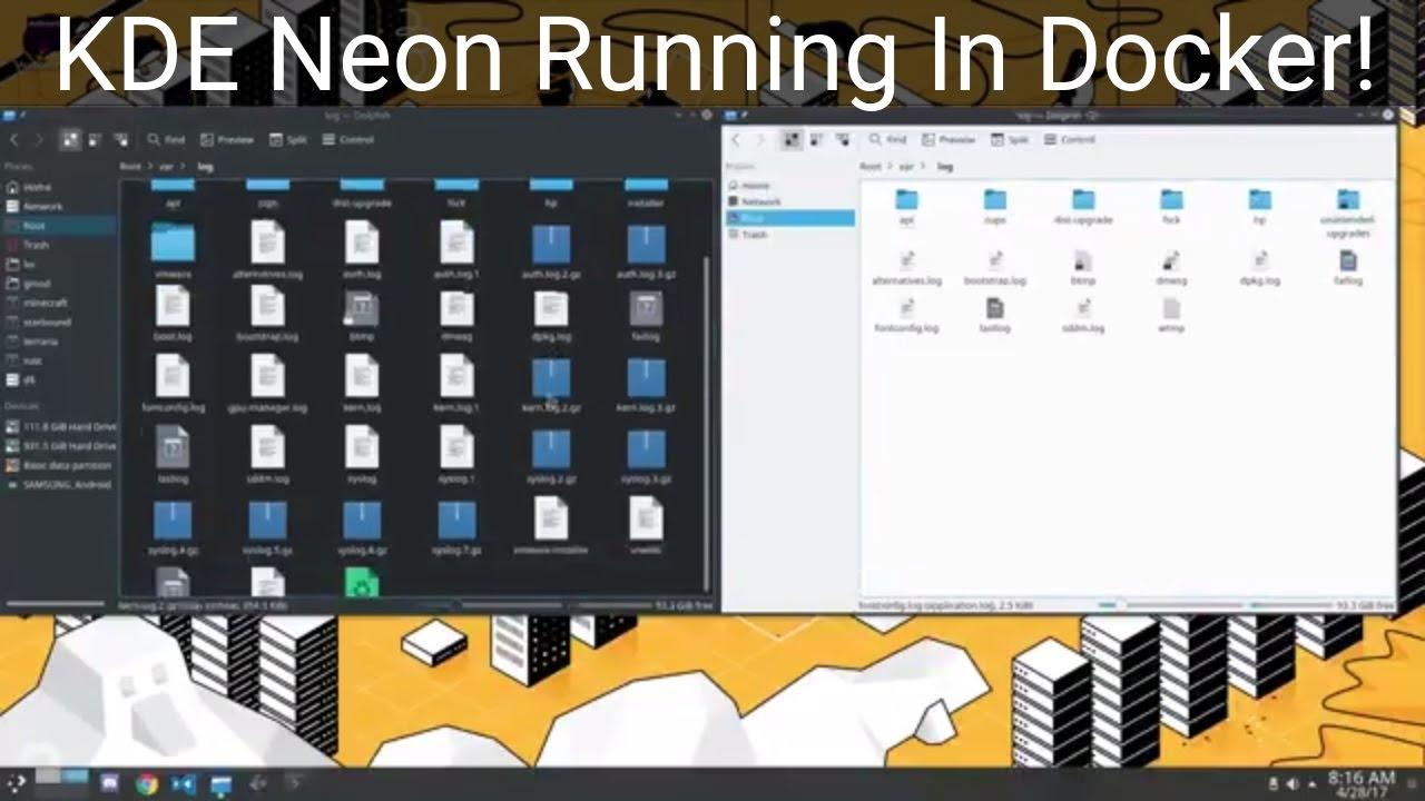 Running KDE Neon Inside A Docker Container!