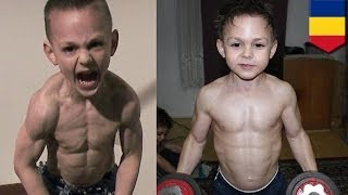 World's strongest kids: Giuliano Stroe, 9, and Claudiu Stroe, 7, want to perform in the UK in 2014