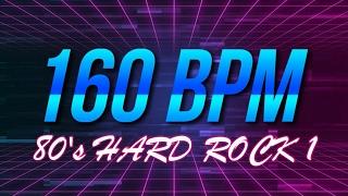 160 BPM - 80's Hard Rock - 4/4 Drum Track - Metronome - Drum Beat