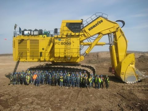 The Biggest Komatsu Excavator PC8000