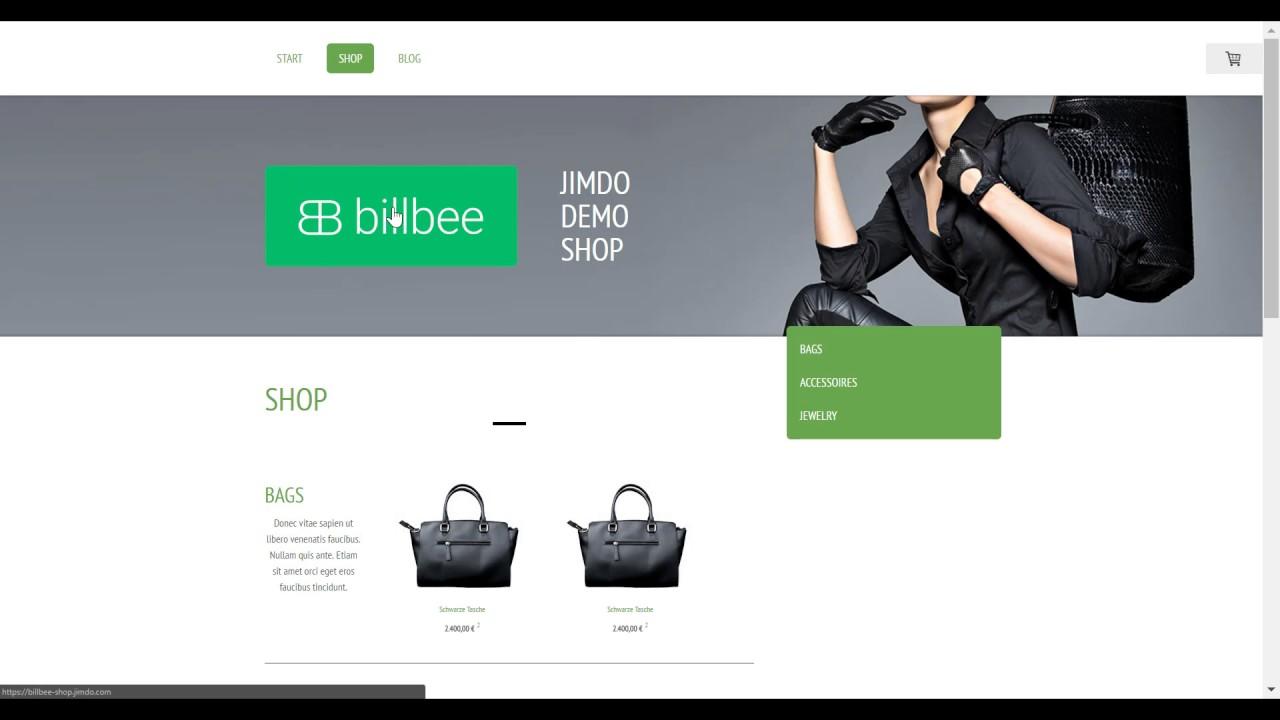 Billbee Und Jimdo Digitale Produkte Im Online Shop Verkaufen