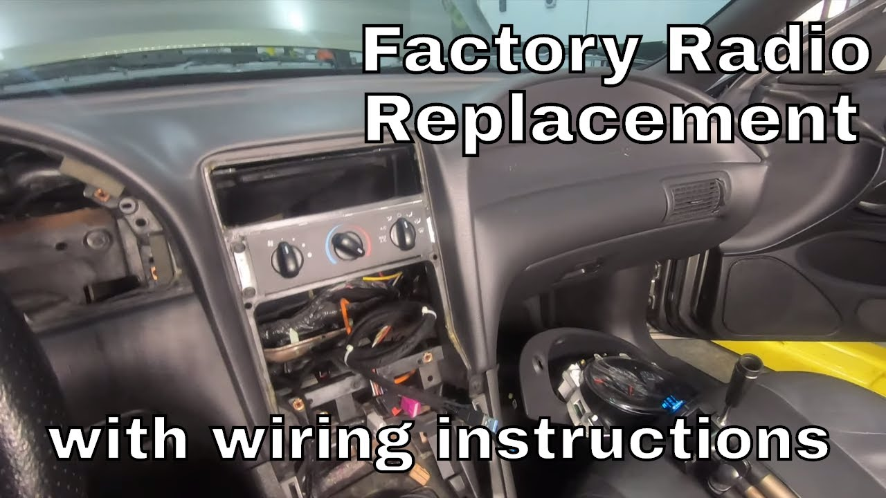 how to install an aftermarket radio receiver in a 94-04 mustang - youtube  youtube