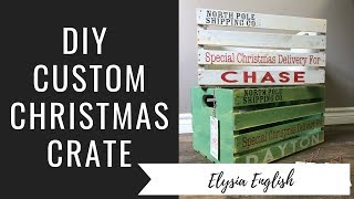DIY Christmas Crate | Christmas Eve Box | How to Christmas Crate | Christmas Crate Tutorial