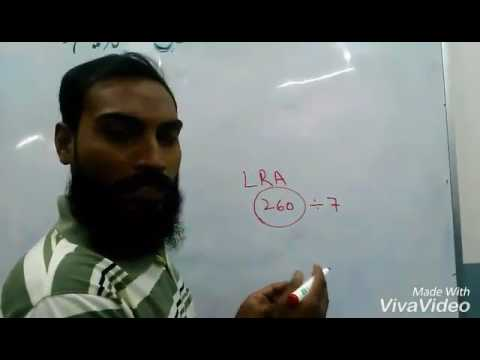 we find LRA to RLA