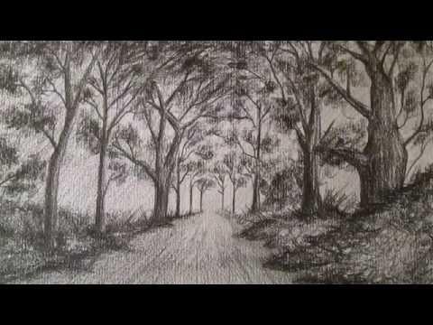 Cómo dibujar un sencillo paisaje a lápiz,aprender a dibujar ...