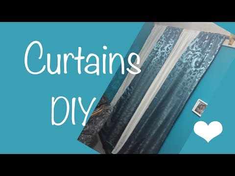 ♥ How to make easy panels curtains / ♥ 2 colors ☁