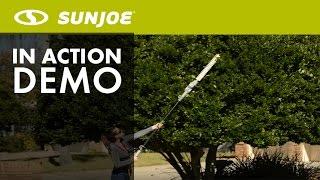 SJH902E - Sun Joe 21-Inch Electric Telescoping Pole Hedge Trimmer - Live Demo