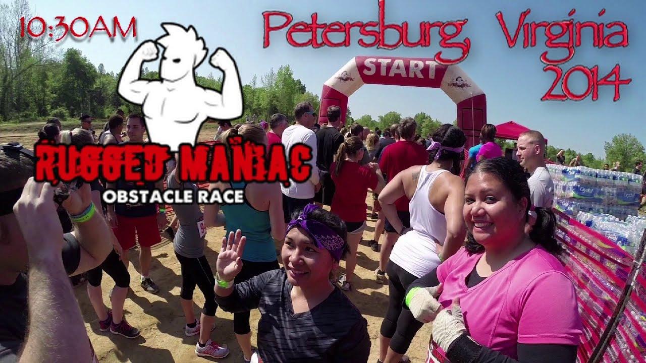rugged maniac 2014 va petersburg all obstacles (gopro hero3+ black