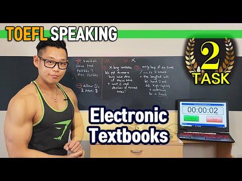 5-MIN/5분 ENGLISH SPEAKING (TOEFL) *Task 2: Announcement- Electronic Textbooks* 120 in 2020 ? - YouTube
